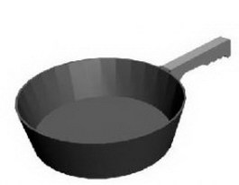 Frying pan 3d model preview
