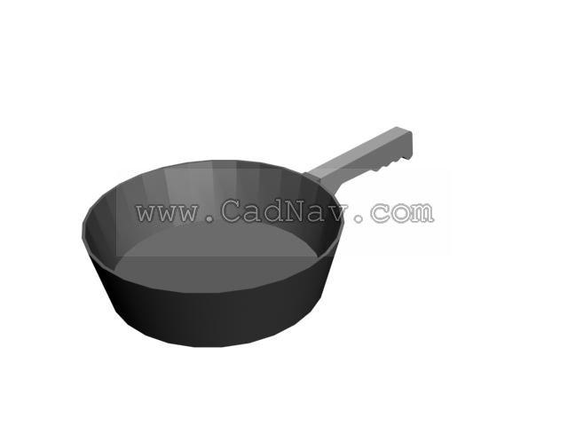 Frying pan 3d rendering