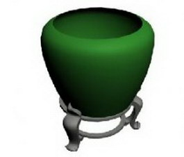 Large ceramic vase 3d model preview
