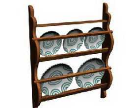 Plate rack 3d model preview