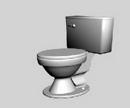 Ceramic toilet 3d preview
