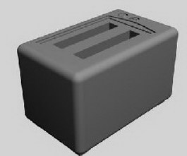 Toaster 3d model preview