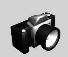 SLR camera 3d model preview