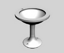 Round washbasin 3d preview