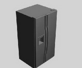 Fridge refrigerator 3d model preview