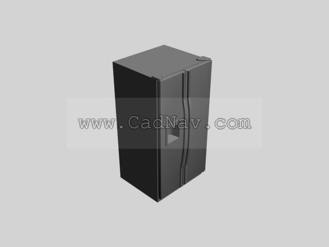 Fridge refrigerator 3d rendering
