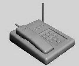 Cordless telephone 3d model preview