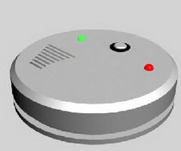 Smoke Detection Alarm 3d preview