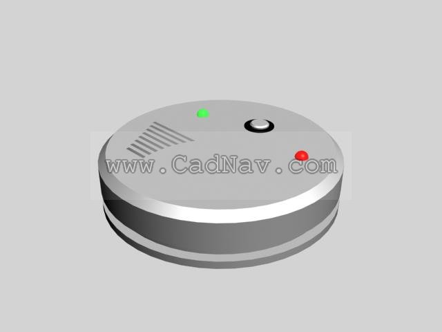 Smoke Detection Alarm 3d rendering