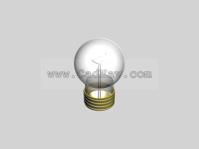 Screw socket bulb 3d rendering
