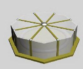 Ceiling CFL Light 3d model preview