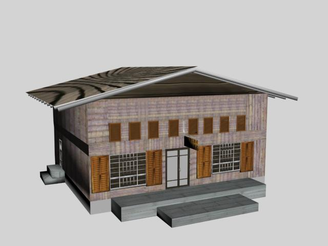 General store 3d model preview