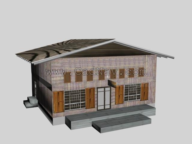 General store 3d rendering