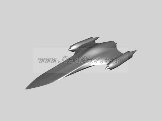 Naboo Ship 3d rendering