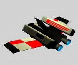 Flying boat 3d model preview