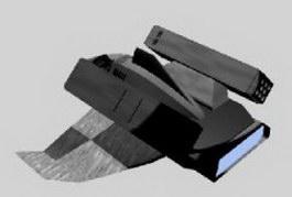 Missile ship 3d model preview