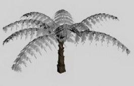Fern leaf 3d model preview