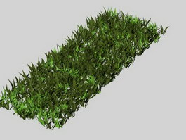 Grass lawn 3d model preview