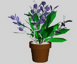Ornamental flower 3d model preview
