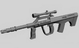 Infrared sniper rifle 3d model preview