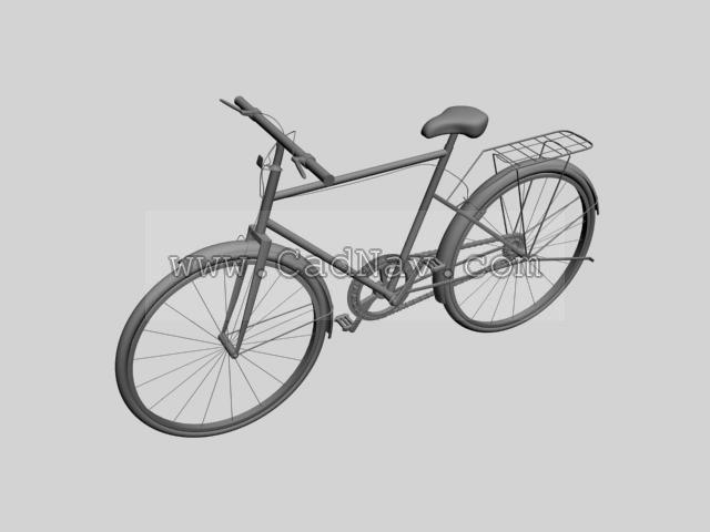 Utility bicycle 3d rendering