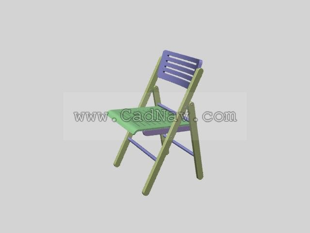Wooden folding chairs 3d rendering