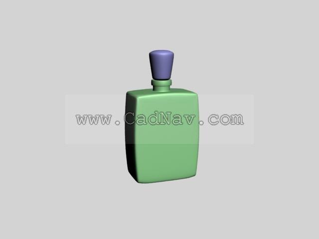 Perfume bottle 3d rendering