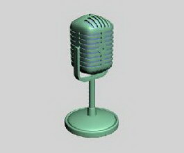 Microphone 3d model preview