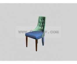 Restaurant dining chair 3d model preview