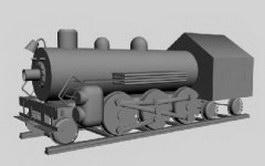 Steam locomotive train 3d preview