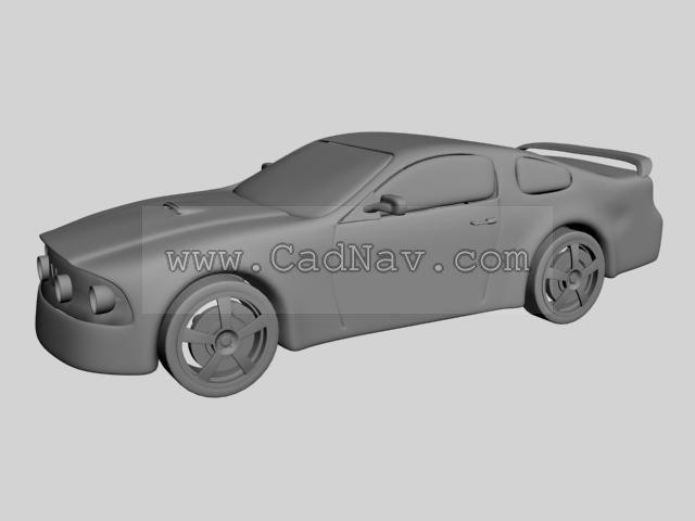 Automobile race 3d rendering
