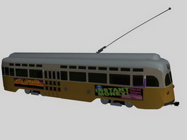 Tramcar streetcars 3d preview