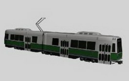 Trolley-bus 3d preview