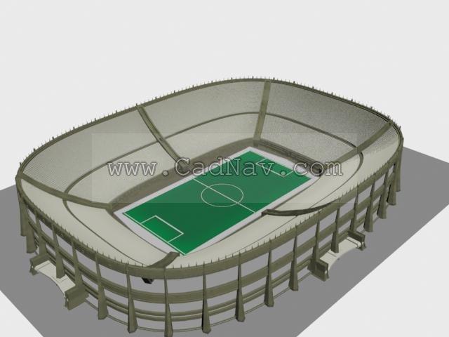 Football stadium 3d rendering