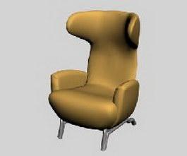Zanotta armchair fabric sofa 3d model preview