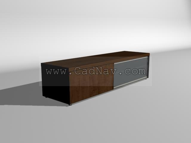 Living room floor cabinet 3d preview