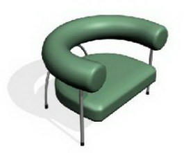 Hotel Steel Armchair 3d preview
