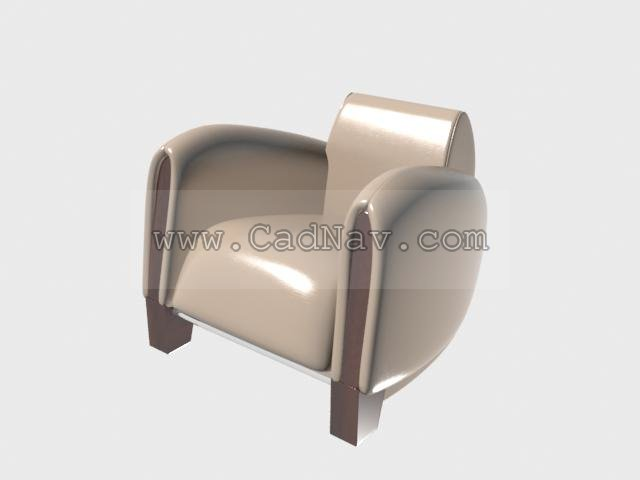 Leather Sofa Armchairs 3d rendering