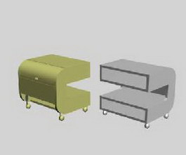 IKEA bedside table 3d model preview