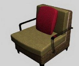 Ilinois home Metal armchair 3d preview