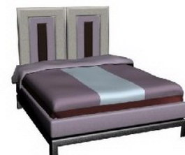 Ilinois home double bed twin-bed 3d preview