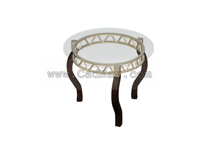 Ilinois home Round Dining Table 3d rendering