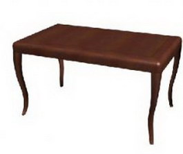 Ilinois home walnut tea table 3d preview