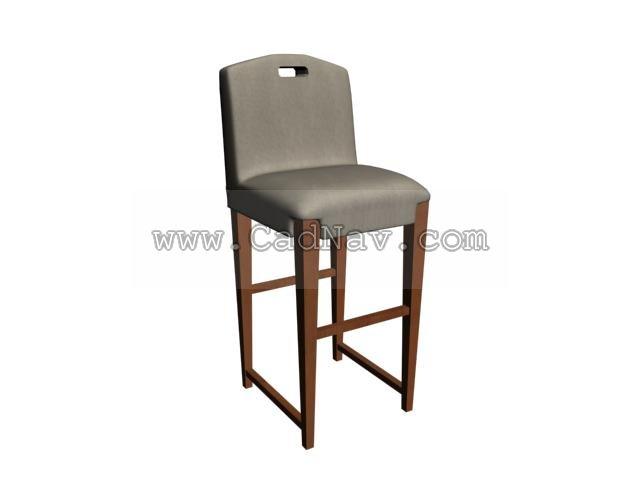 Ilinois home Bar Stools 3d rendering