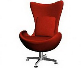 Ilinois home Office Swivel Chair 3d model preview