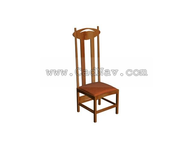 Luxury Wooden Dining Chairs 3d rendering