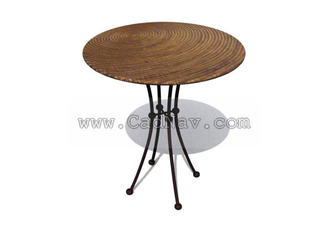 Round tea table 3d rendering