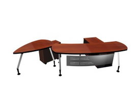Office Desks and Cabinets 3d model preview
