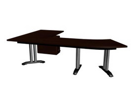 Office table 3d model preview