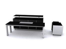 Office reception desk 3d model preview